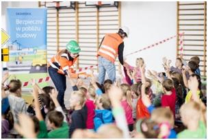 Bezpieczni w pobliżu budowy - akcja edukacyjna (3)