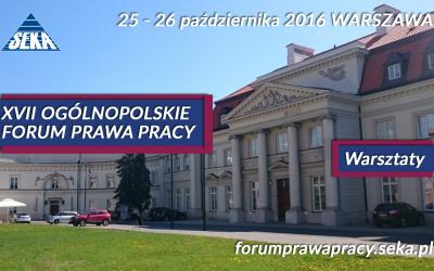 XVII edycja Ogólnopolskiego Forum Prawa Pracy