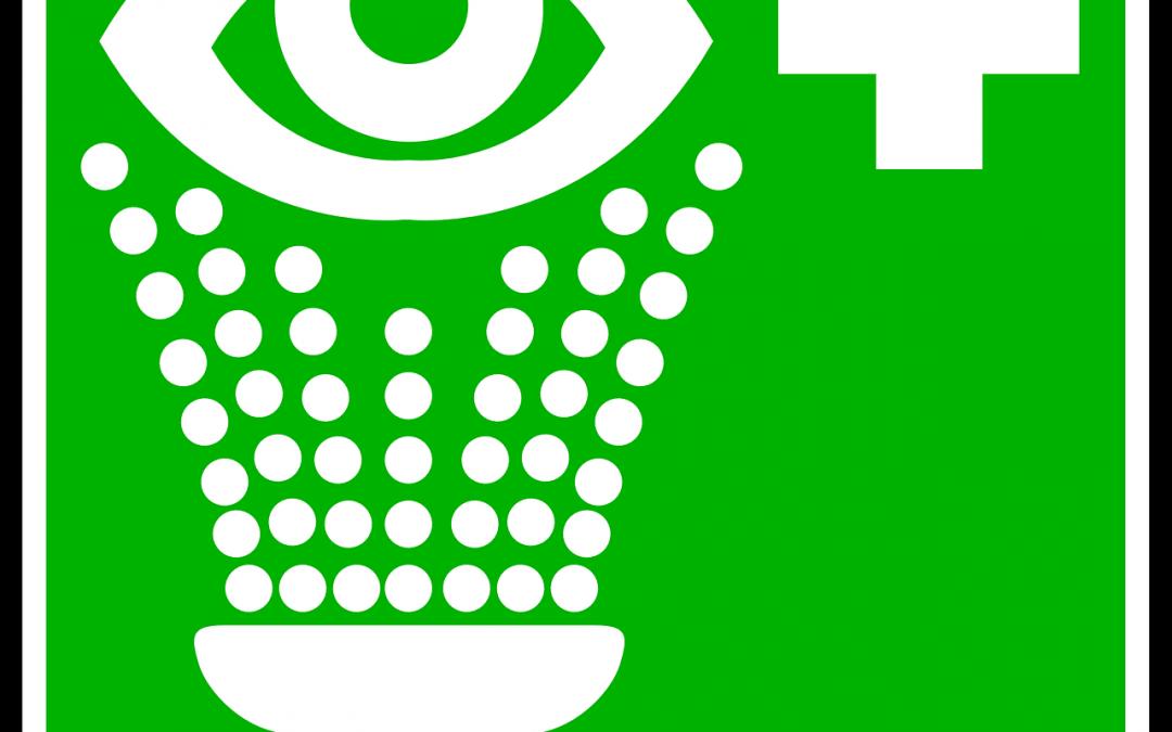Ryzyko uszkodzenia oczu w wyniku uwalniania materiałów niebezpiecznych w środowisku pracy.